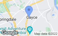 Map of Cayce, SC