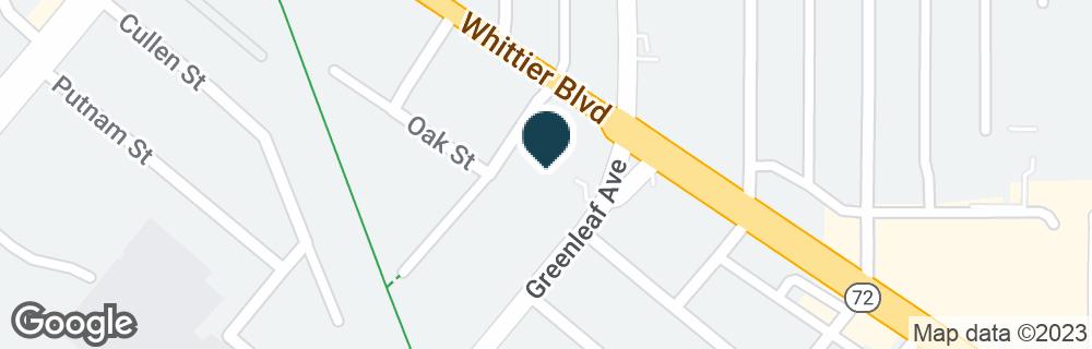 Google Map of8201 GREENLEAF AVE