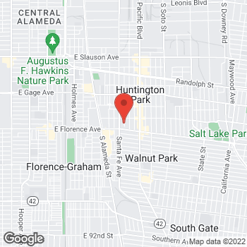 Map of Check `n Go at 7006 Santa Fe Avenue, Huntington Park, CA 90255