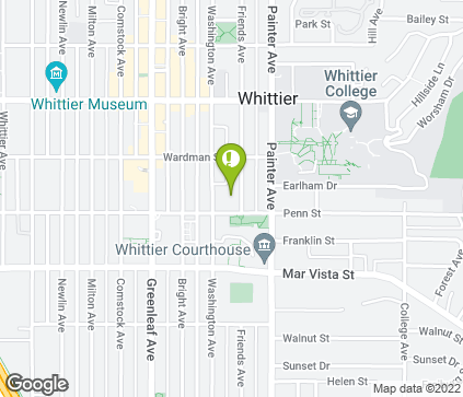 Map of 13215 E Penn St in Whittier