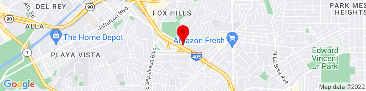 Google Map of 33.9763127, -118.3852032
