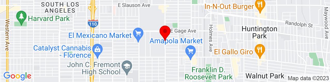 Google Map of 33.9792124, -118.2564828