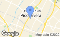 Map of Pico Rivera, CA