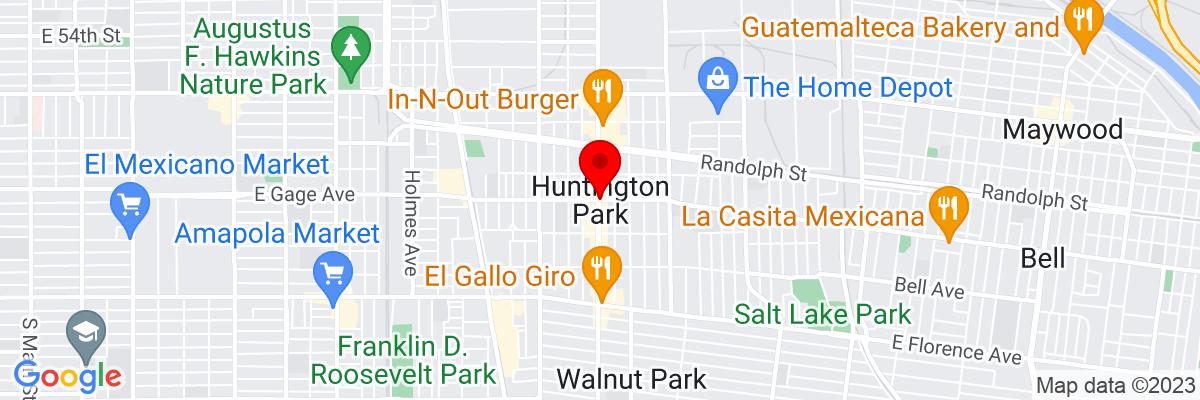 Google Map of 33.981681111111,-118.2250725
