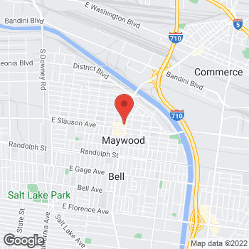 Map of Check `n Go Atlantic Boulevard at 5810 Atlantic Boulevard, Maywood, CA 90270