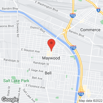 Map of Check `n Go at 5810 Atlantic Boulevard, Maywood, CA 90270