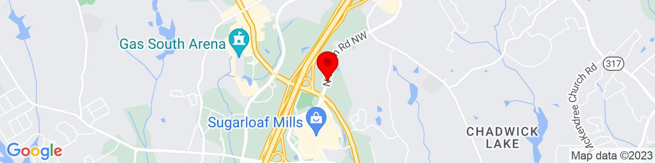Google Map of 33.98814309999999, -84.0790895