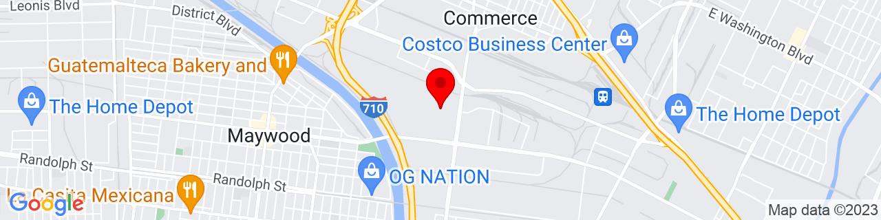 Google Map of 33.9894142, -118.1639423