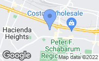 Map of Hacienda Heights, CA