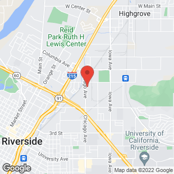 Map of Mighty Auto Parts at 1660 Chicago Avenue, Riverside, CA 92507