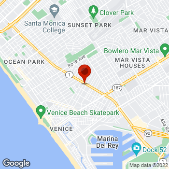 Map of Staples® Print & Marketing Services at 1501 Lincoln Blvd., Venice, CA 90291