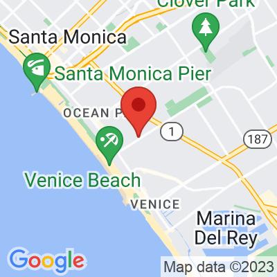 Map showing Bluestone Lane (Venice Beach)