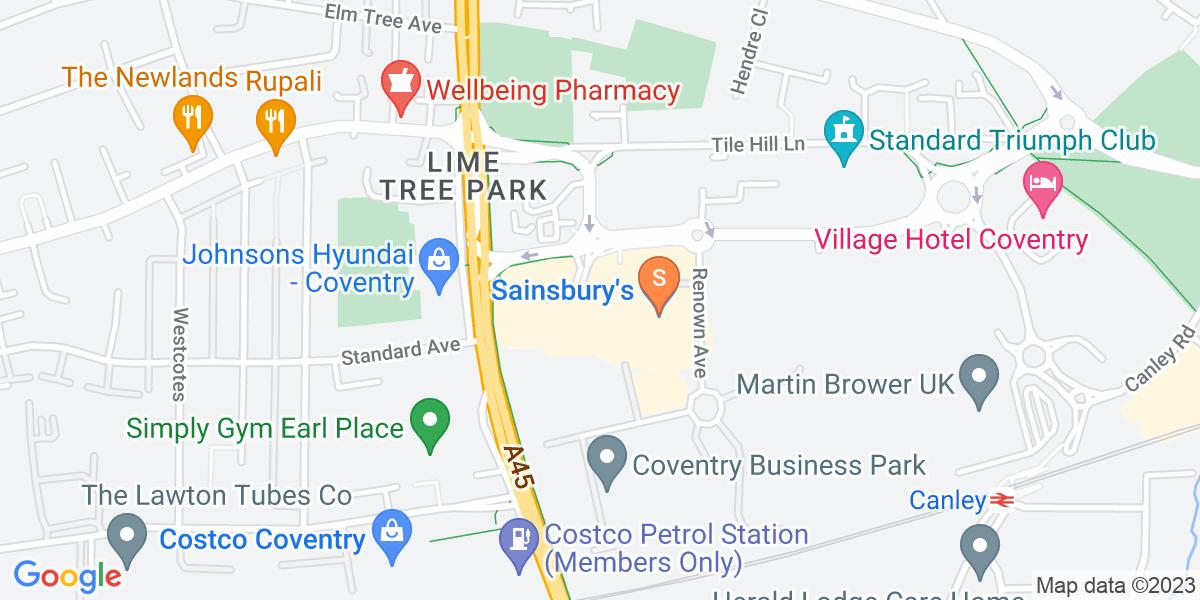 Google Map of 330 Fletchamstead Highway Coventry CV4 9BJ