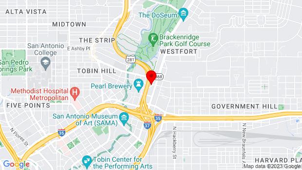 Google Map of 330 E. Grayson St., San Antonio, TX 78205