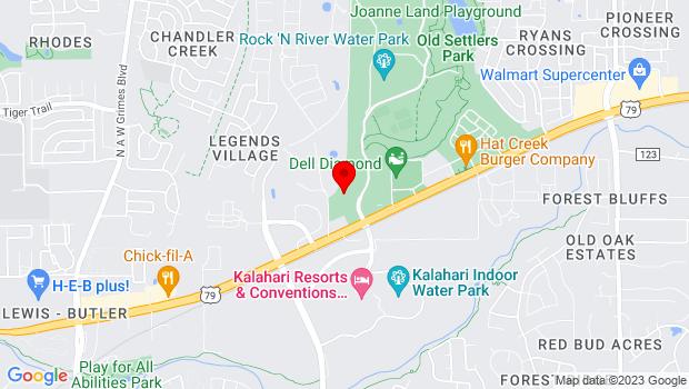 Google Map of 3300 Palm Valley Blvd., Round Rock, TX 78665