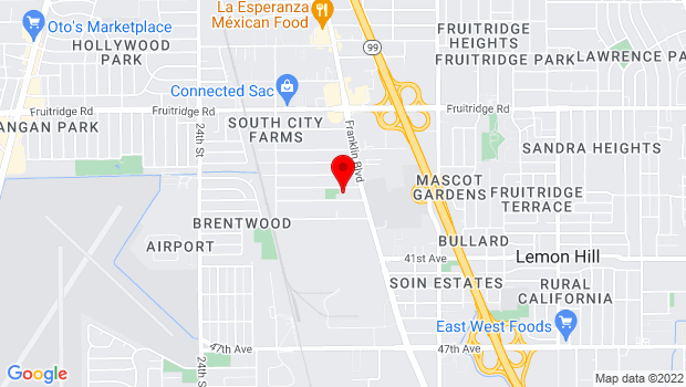Google Map of 3301 37th Ave., Sacramento, CA 95824
