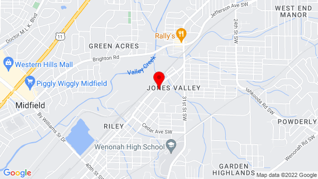 Google Map of 3301 Jefferson Avenue SW, Birmingham, AL 35209