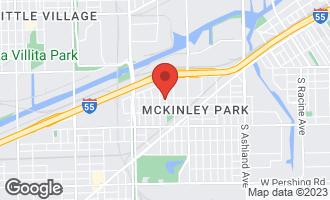 Map of 3302 South Hamilton Avenue #1 CHICAGO, IL 60608