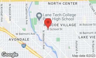 Map of 3303 North Oakley Avenue #2 CHICAGO, IL 60618