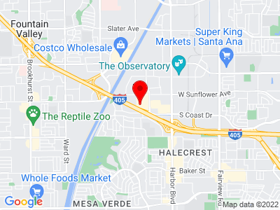 Google Map of 3305 Hyland Ave, Costa Mesa, CA 92626
