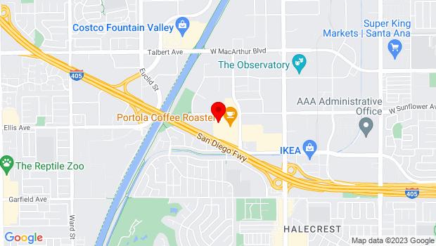 Google Map of 3309 Hyland Avenue, Suite A, Costa Mesa, CA 92626