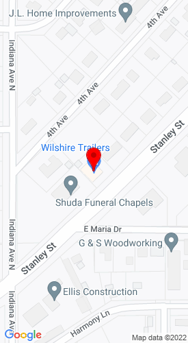 Google Map of Wilshire Trailers Llc. 3310 Stanley ST, Stevens Point, WI, 54481
