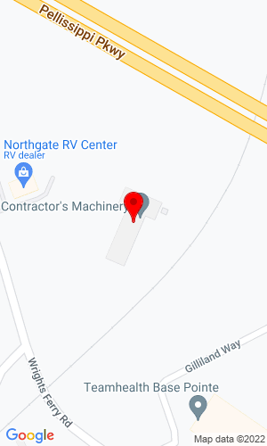 Google Map of Contractor's Machinery 3310 Wrights Ferry Road, Knoxville, TN, 37777