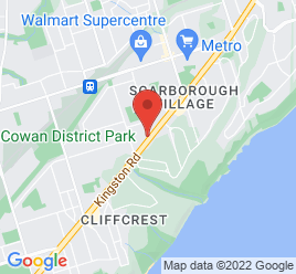 Google Map of 3312+Kingston+Road%2CToronto%2COntario+M1M+1P8
