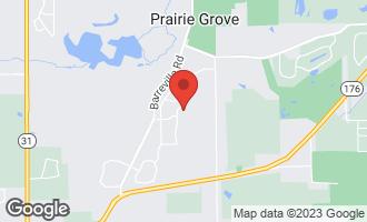 Map of 3312 Arbor Lane PRAIRIE GROVE, IL 60012