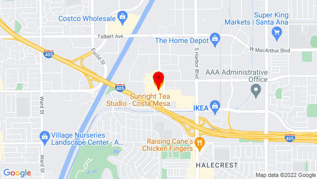 Google Map of 3313 Hyland Avenue, Costa Mesa, CA 92626