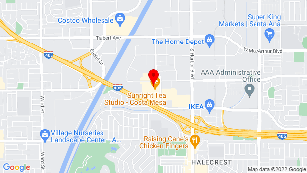 Google Map of 3315 Hyland Avenue, Suite B, Costa Mesa, CA 92626