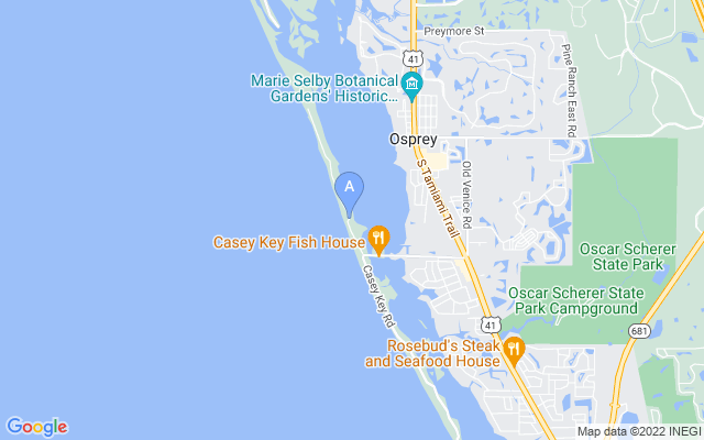 332 N Casey Key Rd Osprey Florida 34229 locatior map