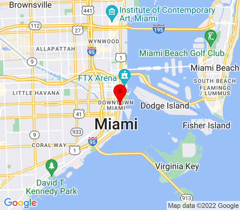 Click to view Google maps office address 333 SE 2nd Avenue, 25th Floor, Miami, FL 33131