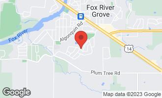 Map of 333 Lexington Avenue FOX RIVER GROVE, IL 60021