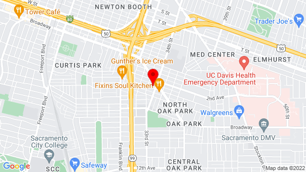 Google Map of 3333 3rd Ave., Sacramento, CA 95817