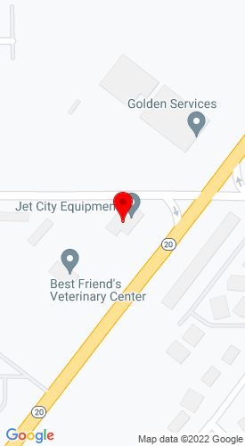 Google Map of Jet City Equipment 33345 State Rte 20, Oak Harbor, WA, 98277