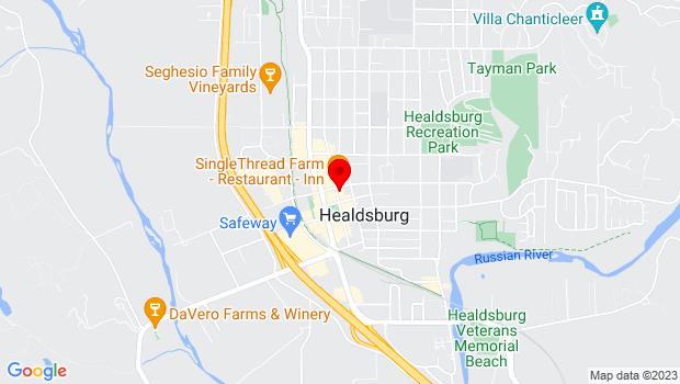 Google Map of 334 Center St, Healdsburg, CA