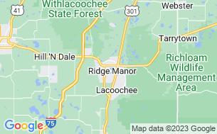 Map of Ridge Manor Campground