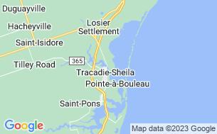 Map of Chalets et Camping de la Pointe
