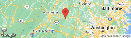 Map of 33531 SNICKERSVILLE TURNPIKE BLUEMONT, VA 20135
