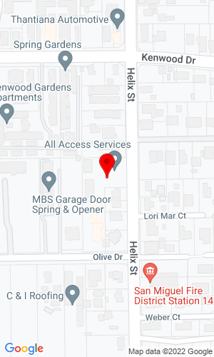 Google Map of Expert Iron Sales 3364 Helix Street, Spring Valley, CA, 91977