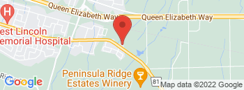 Google Map of 337+Main+Street+East%2CGrimsby%2COntario+L3M+5N9