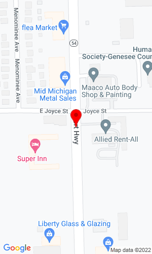 Google Map of Allied Equipment Rental, Inc. 3371 S Dort Hwy, Burton, MI, 48529