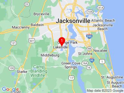 Google Map of 3376 Hollycrest Blvd Orange Park, FL, 32073