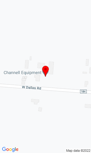 Google Map of Channell Equipment 338 West Dallas Road, Urbana, OH, 43078