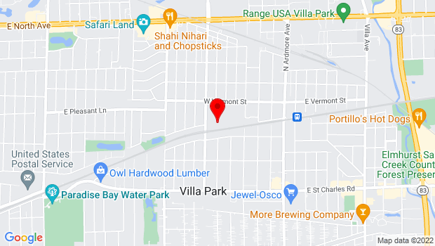 Google Map of 338 N Iowa Ave, Villa Park, IL 60181