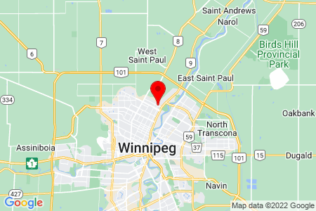 Google Map of 338 Templeton AveWinnipeg Manitoba R2V 1S4