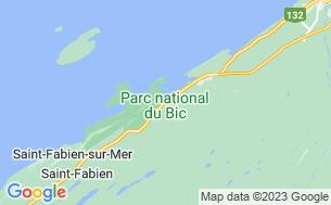 Map of Camping du Bic