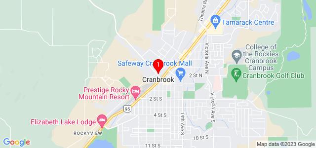 Google Map of 338C King Street Cranbrook, BC V1C 4E3