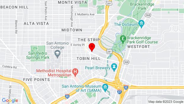 Google Map of 339 W. Josephine, San Antonio, TX 78212
